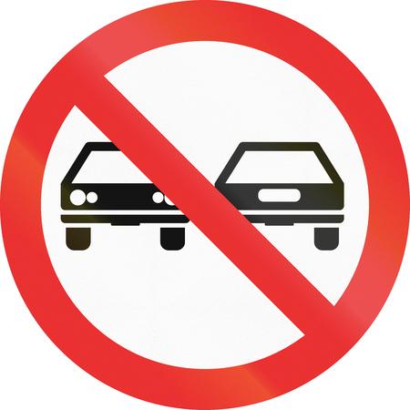 no pass: No hay señales de adelantamiento en el estado de Jalisco (México).