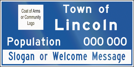 lincoln: A town name sign in Ontario, Canada - Lincoln Stock Photo