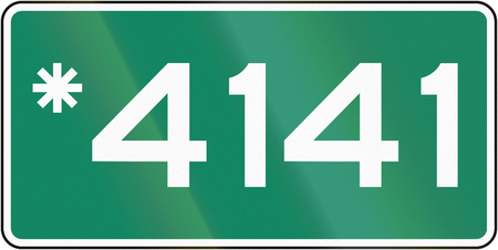 phone number: Guide and information road sign in Quebec, Canada - Exclusive towing phone number.