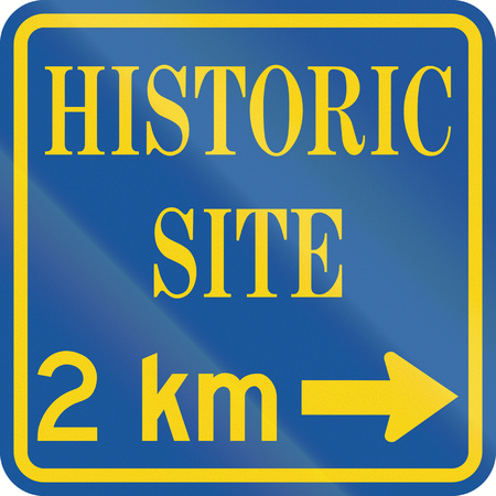 historic site: Guide road sign in Canada - Historic Site. This sign is used in Ontario. Stock Photo
