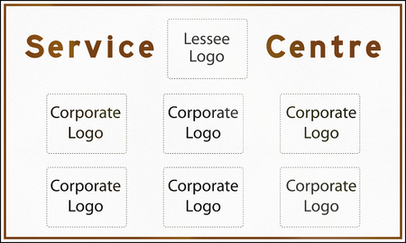 lessee: A Blank Service Centre Sign In Ontario - Canada, with copy space for corporate logos.