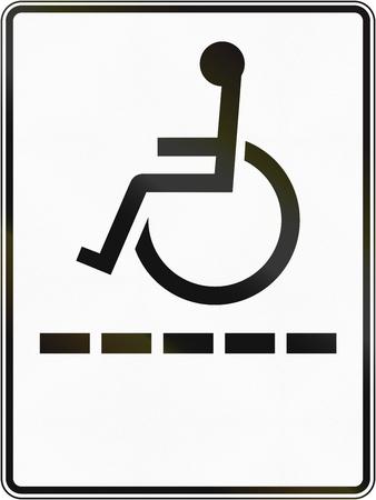 paraplegic: Señal de tráfico de Regulación en Quebec, Canadá - ruta minusválidos.