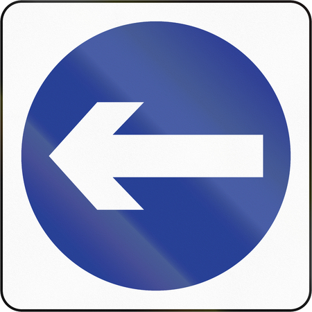 turn left: Bruneian traffic sign: Turn left