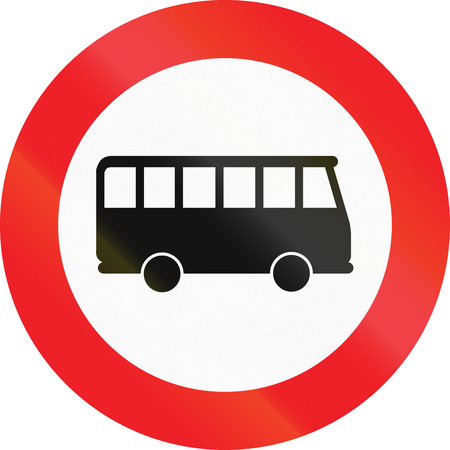 regulatory: Austrian regulatory sign 7f - no busses and coaches. Stock Photo