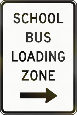 regulatory: Regulatory road sign in Canada - School bus loading zone. This sign is used in Ontario.
