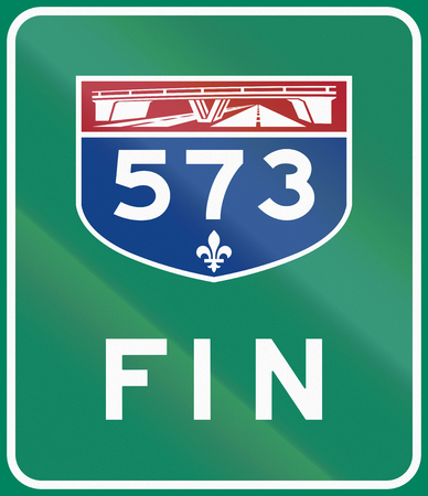 means to an end: End of Quebec, Canada Highway 573. Fin means end.