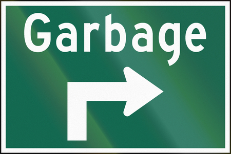 garbage dump: Guide road sign in Canada - Garbage dump. This sign is used in Ontario.