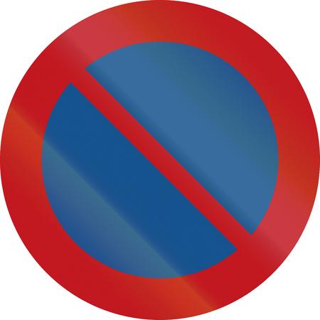 prohibition: Un panneau d'interdiction Néerlandais - Pas de parking. Banque d'images