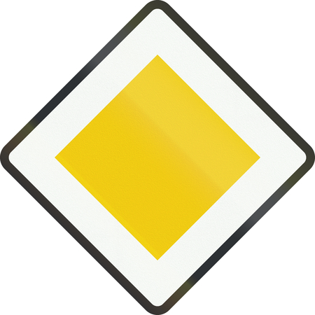 priority: Dutch road sign B1 - Priority road.