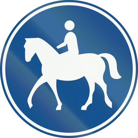 znak drogowy: Netherlands road sign G9 - Bridleway. Zdjęcie Seryjne