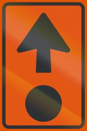 moyen de transport: Netherlands road sign K14 - Route for the conveyance of hazardous materials.