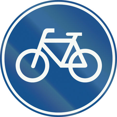cycles: Netherlands road sign G11 - Route for pedal cycles only. Stock Photo