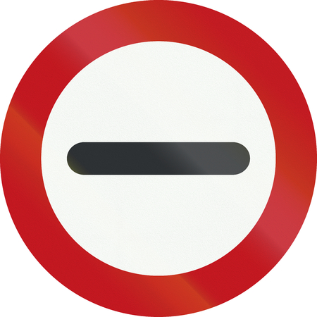 An official Dutch prohibition sign - Stop.