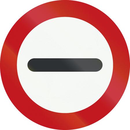 interdiction: Un panneau d'interdiction officielle néerlandaise - Stop.
