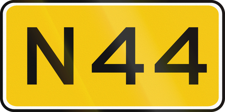 numbered: A Dutch numbered road shield of a provincial road.