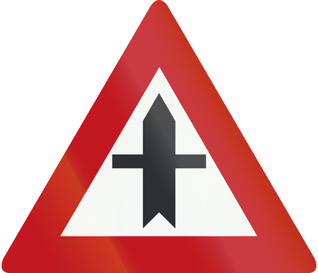 priority: Dutch road sign B3 - Crossroads with priority.