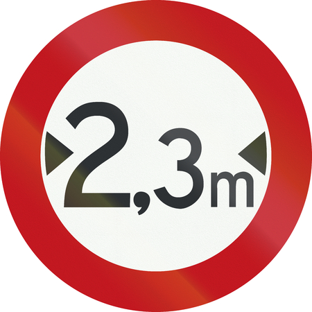 prohibition: Un panneau d'interdiction Néerlandais - limite de largeur.