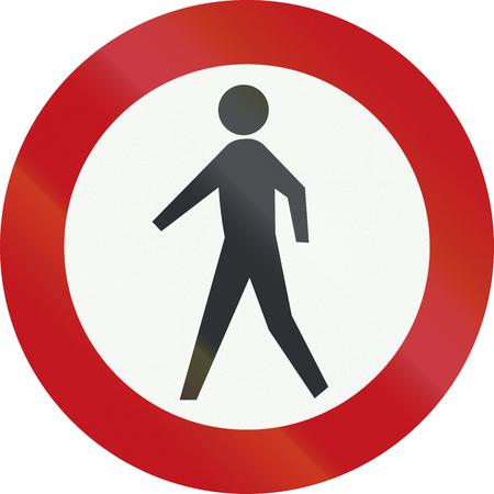 interdiction: Un panneau d'interdiction Néerlandais - Pas de piétons.