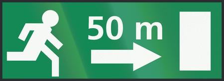 salida de emergencia: Holand�s signo - la salida de emergencia 50 metros a la derecha.