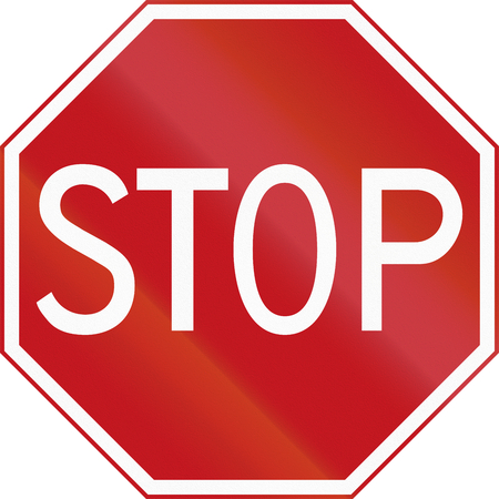 road ahead: Dutch road sign B7 - Stop: give priority to traffic on the main road ahead.