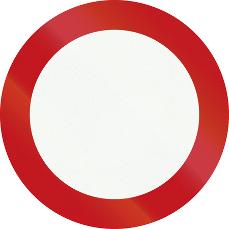 no entry: A Dutch prohibition sign - No entry. Stock Photo