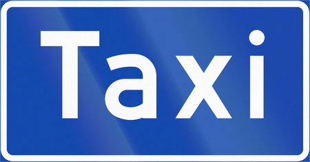 rank: Norwegian regulatory road sign - Taxi rank.