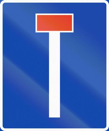 dead end: Norwegian information road sign - Dead end.