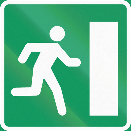 salida de emergencia: Norwegian information road sign - Emergency exit.