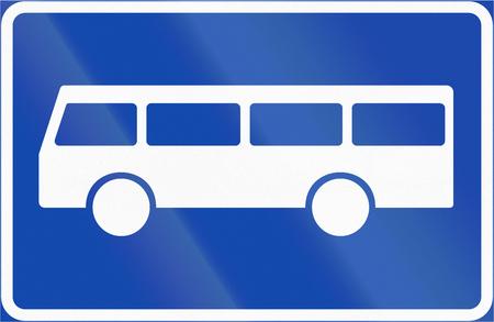 bus stop: Norwegian regulatory road sign - Bus stop.