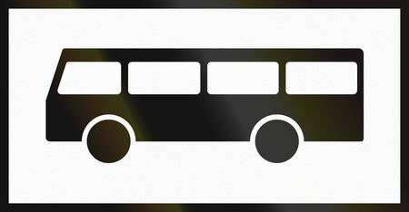 supplementary: Norwegian supplementary road sign - Sign applies to buses. Stock Photo