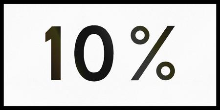grade: Norwegian supplementary road sign - Uphill grade.