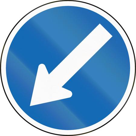 zealand: New Zealand road sign RG-17 - Keep left.