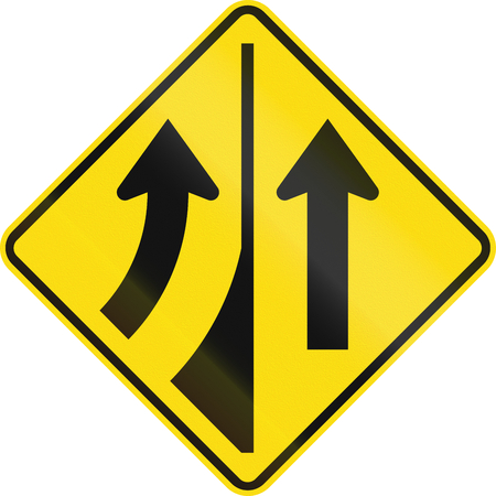 quadratic: New Zealand road sign W11-7-L - Added lane to the left.