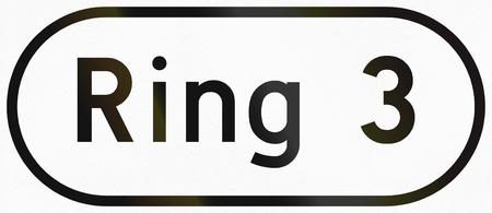 ring road: Norwegian road sign - Ring road 3. Stock Photo