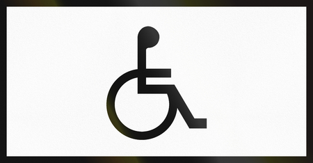 supplementary: Norwegian supplementary road sign - Sign applies to disabled persons. Stock Photo
