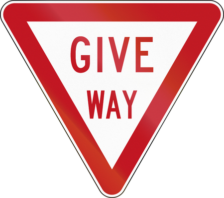 give the way: New Zealand road sign R2-2 - Give Way.