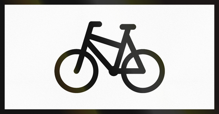 supplementary: Norwegian supplementary road sign - Sign applies to bicycles.