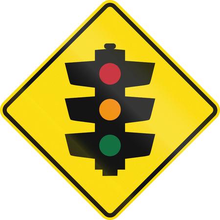 señales trafico: Nueva Zelanda señal de tráfico PW-3 - Tráfico señala adelante.