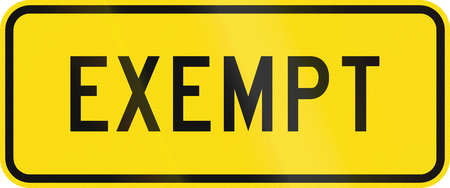 exempt: New Zealand road sign - Heavy vehicles are exempt from the legal requirement to come to a complete stop before crossing the tracks.