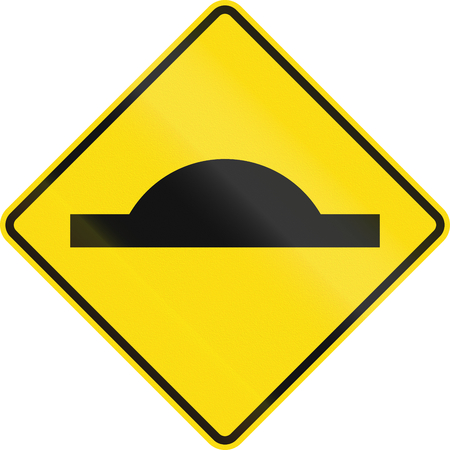 bump: New Zealand road sign PW-39 - Bump in road.