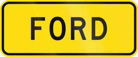 뉴질랜드도 경고 표지판 - 포드.