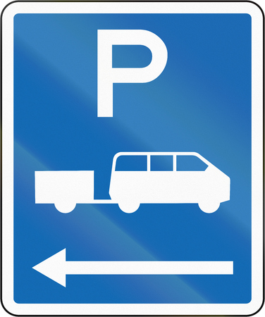 time limit: New Zealand road sign - Parking zone for shuttles with no time limit, on the left of this sign.