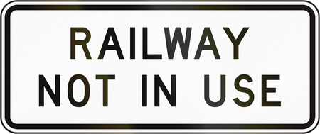 out of use: New Zealand road sign - Railway not in use. Stock Photo