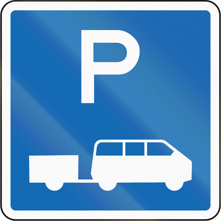 time limit: New Zealand road sign - Parking zone for shuttles with no time limit. Stock Photo