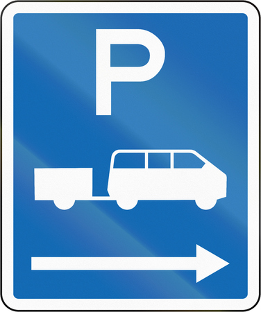 time limit: New Zealand road sign - Parking zone for shuttles with no time limit, on the right of this sign.