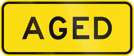 auxiliary: New Zealand road sign - Watch for elderly pedestrians.