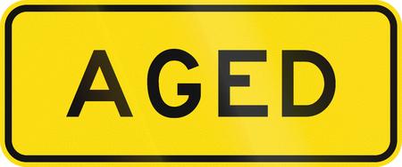 New Zealand road sign - Watch for elderly pedestrians.