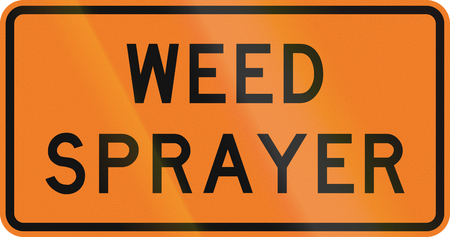 sprayer: New Zealand road sign - Weed sprayer.