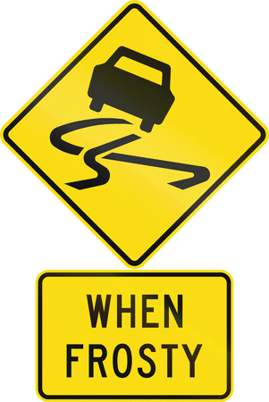 assembly language: Road sign assembly in New Zealand - Slippery when frosty.