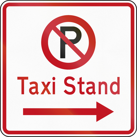 no  parking: New Zealand road sign RP-6.1 - No Parking in Taxi Stand.